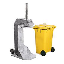 Mülltonnenpresse 120 -360 Liter, verzinkt
