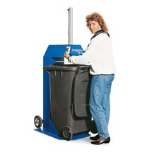Mülltonnenpresse, fahrbar