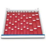 Mulden-Einteilung für Reihenwerkbänke