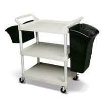 Multifunctionele bak voor tafelwagens en etagewagens
