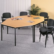 Multifunctionele tafel, vierkante buis, grijs