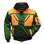 Multifunktions-Pilotenjacken Profi, grün/orange