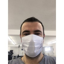 Mund- und Nasenschutz, einlagig