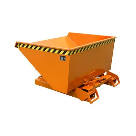 Nádoba na naklápění s automatickým pojízdná mechanika, nosnost 1.000 kg, lakovaná, objem 0,6 m³