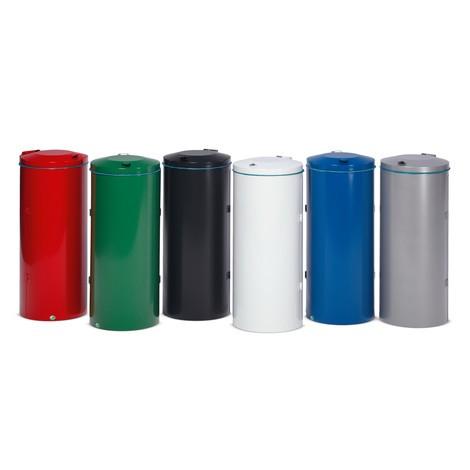 Nádoba na sběrné suroviny VAR®, 120litrů, dvoukřídlé víko, zpozinkované a komaxitové oceli