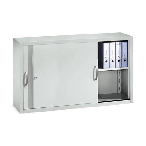 Nadstawka do szaf warsztatowych zdrzwiami przesuwnymi C+P, 2 półki, wys. xszer. xgł. 790 x1600 x500 mm, ścianka działowa