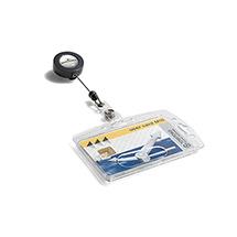 Namensschild Hartbox DURABLE, mit Ausweishalter für 1 Ausweis