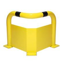 Narożny kabłąk ochronny zochroną przeciwwjazdową do zastosowań wpomieszczeniach