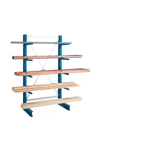 Nástavbové pole konzolového regálu META jednostranné, nosnost až 220 kg
