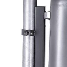 Nastro di fissaggio per cestino rifiuti in lamiera d'acciaio
