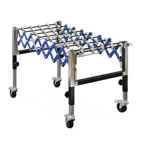 Nastro trasportatore a pantografo a rulli Ameise®, carico su nastro 30 kg