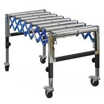 Nastro trasportatore a pantografo gemellato su rulli pesante Ameise®, carico su