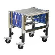 Nastro trasportatore a pantografo su rulli Ameise®, portata 180 kg