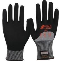 NITRAS Schnittschutzhandschuhe Taeki, grau/schwarz TAEKI-Spezialfaser, Nitrilschaum 10 Paar