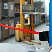 Nástenná pásová zábrana XL na zahákovanie, dĺžka 5,4m