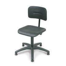 Obrotowe krzesło robocze Uno poliuretanowe