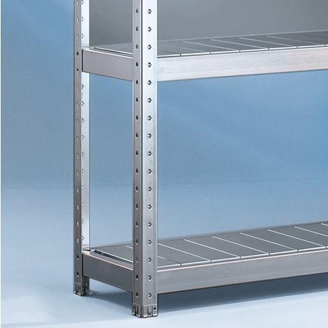 Oceľový panel pre široký regál META, soceľovými panelmi, nosnosť regálu je až 500 kg