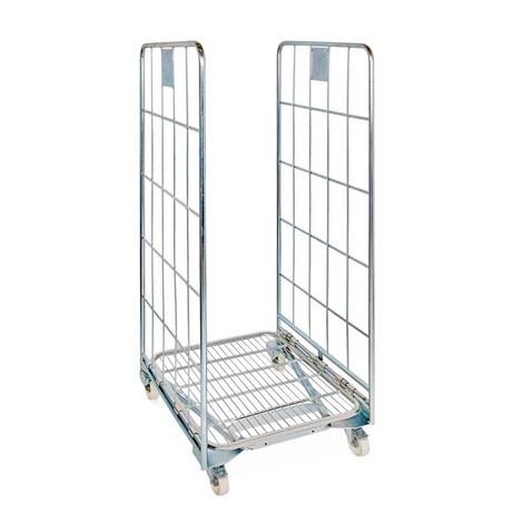 Ocelový transportní vozík BASIC, smožností vkládání prázdných vozíků do sebe