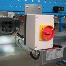 Ochranný spínač motora pre posuvné pásové dopravníky