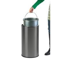 Odpadkový koš Push, samozavírací víko, 40litrů