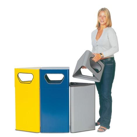 Odpadkový kôš VAR® Vario, 50/70litrov, trojhranný