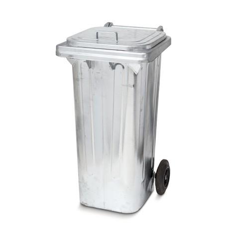 Odpadkový koš z galvanizovanej ocele