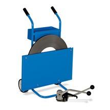 Odvíjací vozík na jednovrstvovú oceľovú viazaciu pásku