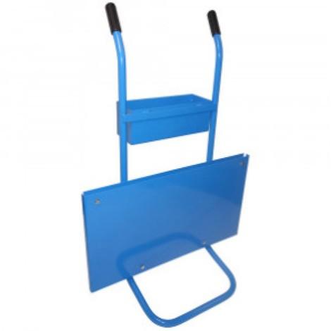 Odvíjecí vozík na jednovrstvou ocelovou vázací pásku