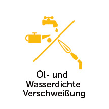 Öl- und wasserdichte Verschweißung für Kippbehälter stapelbar