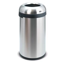 Offener Abfallsammler aus Edelstahl. H x Ø 760 x 400mm