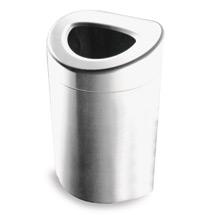 Offener Abfallsammler aus Edelstahl. H x Ø 850 x 508mm