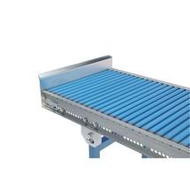 Ogranicznik krańcowy do małego przenośnika rolkowego i przenośnika krążkowego do lekkich ładunków