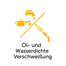 Olie- en waterdichte lasverbinding voor stapelbare kantelbakken