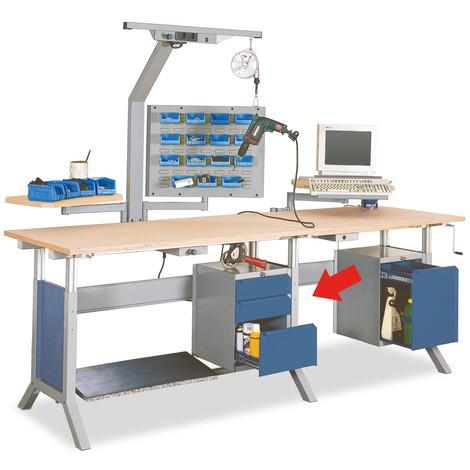 Onderbouwkast met 1 lade voor werkpleksysteem tafel, hxbxd 500 x 370 x 400 mm