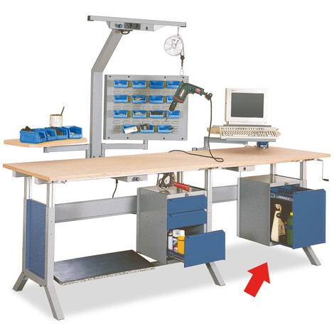 Onderbouwkast met 3 lades voor werkpleksysteem tafel, hxbxd 500 x 370 x 400 mm