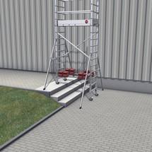 Onderstel Hailo ProfiStep® multi van aluminium. Basissteiger