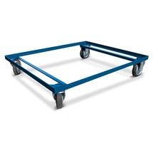 Onderstel voor gitterbox HESON®, gelakt, voor bakken 800 x 600 mm