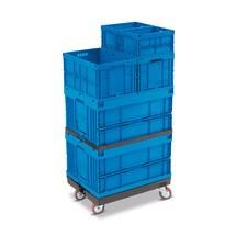 Onderwagen voor bakken 800x600mm of 600x(2x400)mm, capaciteit 450kg