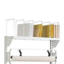 Opbergsysteem voor verpakkingsmateriaal voor pakstations