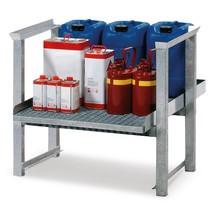 Opbouwstelling asecos® voor kleine vaten