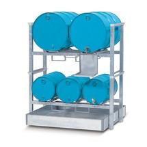 Opbouwstelling asecos® voor vaten