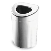Open afvalbak van roestvrij staal. H x Ø 850 x 508mm