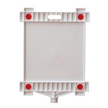 oplysningsskilt blank, rektangel, med reflektorer