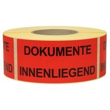 "Opmerking Label ""Ingelegd documenten"""