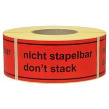 """Opmerking Label """"Niet stapelbaar"""""""