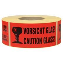 """Opmerking Label """"Voorzichtig glas"""""""