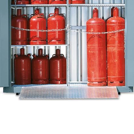 Oprijplaat voor gasflessencontainer