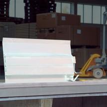 Oprijplaat voor laadperrons. Capaciteit 4000 kg, breedte 1,25/1,50 m