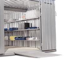 oprijplaat voor materiaalcontainer