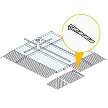 Oprijplaatverbinding voor lage lekbak uit staal